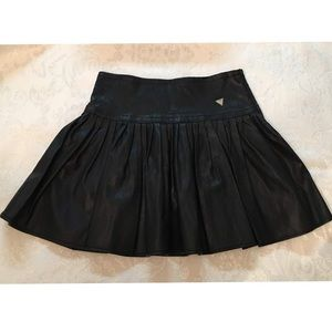 Guess   Girls Pleated Faux Leather Skirt
